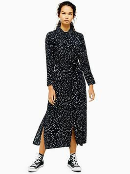 topshop-topshop-spot-print-open-back-shirt-dress-monochrome