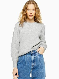 topshop-knitted-relaxed-fit-jumper-grey