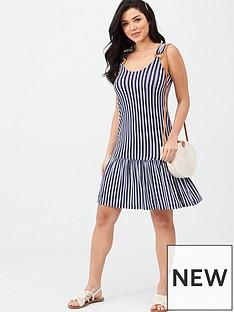 v-by-very-dropped-hem-jersey-beach-dress-stripe