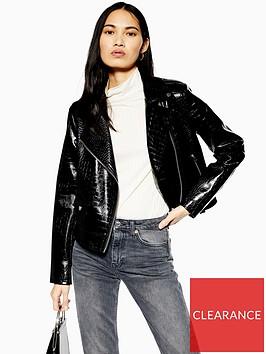 topshop-pu-faux-croc-short-jacket