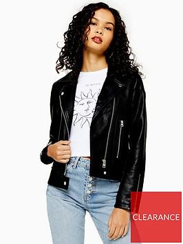 topshop-pu-classic-biker-jacket-black