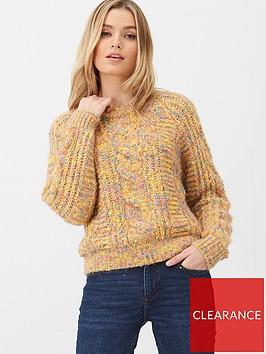 v-by-very-cable-multi-yarn-jumper-mustard