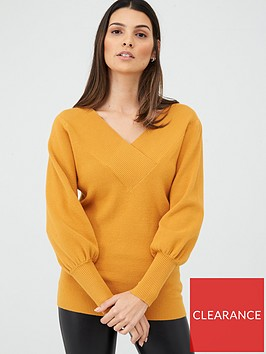 v-by-very-v-neck-balloon-sleeve-jumper