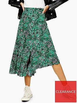 topshop-spot-pleated-midi-skirt-green