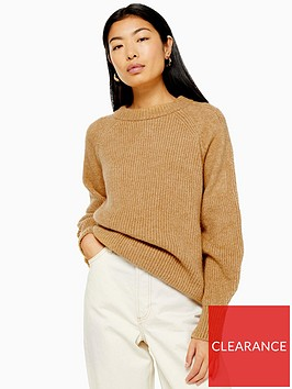topshop-knitted-relaxed-fit-jumper-camel