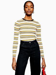 topshop-multi-stripe-slim-stretch-knitted-jumper