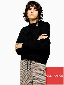 topshop-relaxed-fit-knitted-jumper-black