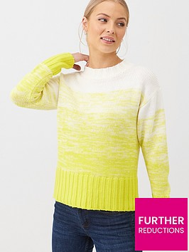 v-by-very-ombre-grown-on-neck-jumper-yellow