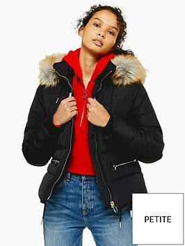 topshop-petite-jack-faux-fur-hooded-padded-coat