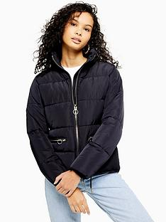 topshop-faux-fur-detachable-hood-padded-jacket-navy