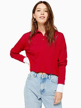 topshop-topshop-long-sleeve-rugby-polo-top-red