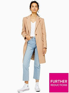 topshop-single-breasted-smart-coat-brown