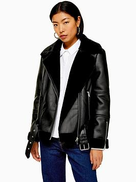 topshop-aviator-biker-jacket-black