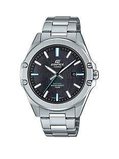 casio-edifice-black-and-green-detail-date-dial-stainless-steel-bracelet-mens-watch