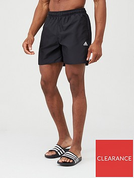 adidas-solid-swim-shorts-black