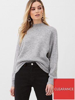 v-by-very-seam-detail-jumper-grey