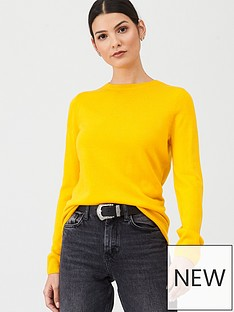 v-by-very-supersoft-crew-neck-jumper-mustard