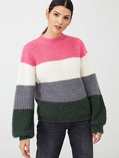 v-by-very-balloon-sleeve-stripe-jumper-stripe