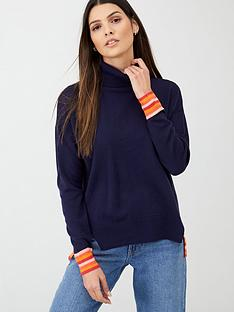 v-by-very-step-hem-turtle-neck-jumper-navy