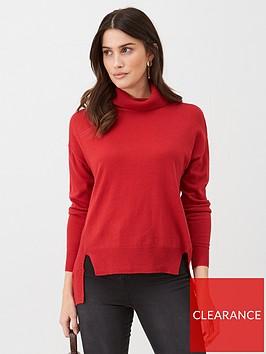 v-by-very-step-hem-turtle-neck-jumper-red