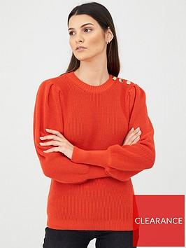 v-by-very-puff-sleeve-jumper-orange