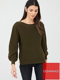v-by-very-zip-shoulder-jumper-khaki