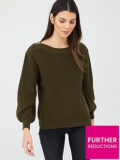 v-by-very-zip-shoulder-jumper-khaki