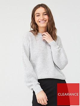 v-by-very-stitch-yoke-detail-jumper-grey