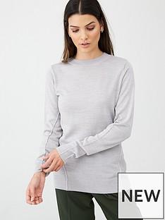 v-by-very-crew-neck-seam-detail-jumper-grey-marl