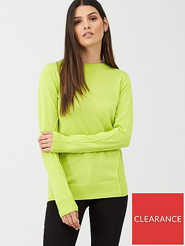 v-by-very-crew-neck-seam-detail-jumper-lime