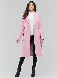 michelle-keegan-formal-longline-coat-pink