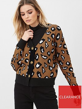 v-by-very-button-up-animal-cardigan-print