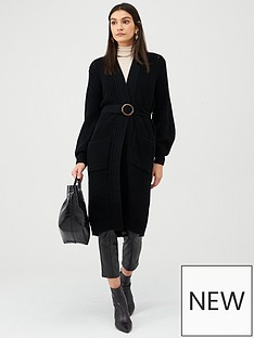 v-by-very-chunky-self-tie-belt-cardigan-black