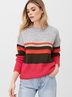 v-by-very-striped-dropped-sleeve-jumper-multi
