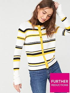v-by-very-mustard-stripe-cardigan-stripe