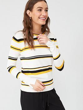 v-by-very-mustard-stripe-jumper-stripe