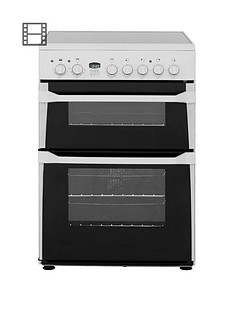 Indesit ID60C2WS 60cm Ceramic Hob Double Oven Electric Cooker - White