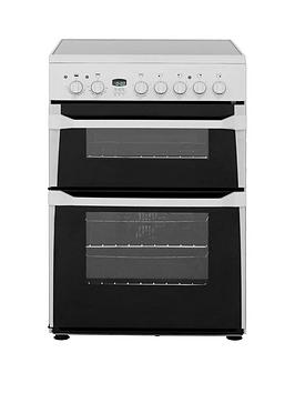 Indesit Id60C2W 60Cm Wide Ceramic Hob Double Oven Electric Cooker - White