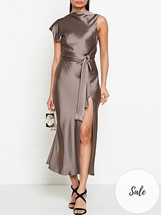 bec-bridge-piper-asymmetric-split-leg-midi-dress-olive