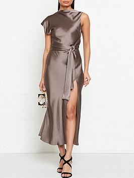 bec-bridge-piper-asymmetric-split-leg-midi-dress-olive