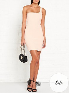 bec-bridge-ruby-one-shoulder-mini-dress-peach