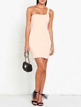 bec-bridge-ruby-one-shoulder-mini-dress-peach