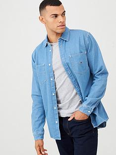 tommy-jeans-denim-long-sleeved-shirt-blue