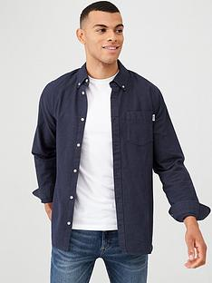 tommy-jeans-two-tone-long-sleeved-oxford-shirt-navy