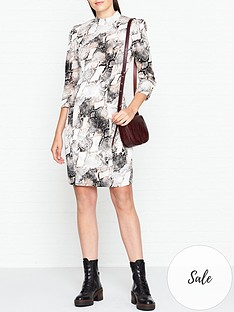 gestuz-baran-snake-print-dress-grey