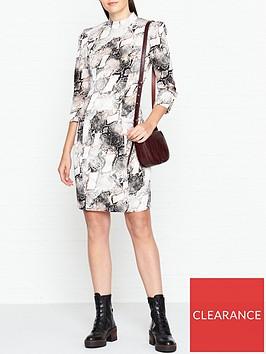 gestuz-baran-snake-print-dress-grey