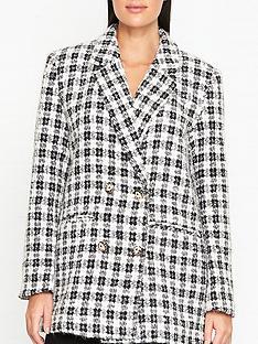 gestuz-ophelia-tweed-blazer-blackwhite