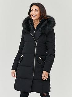 michelle-keegan-asymetric-zip-padded-coat-black