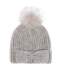 oasis-knitted-bow-thread-through-beanie-mid-grey