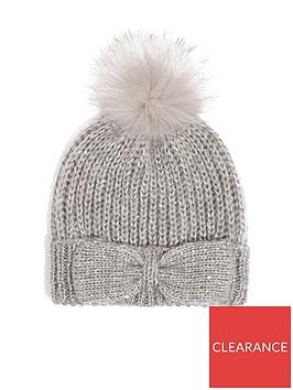 oasis-knitted-bow-thread-through-beanie-mid-grey